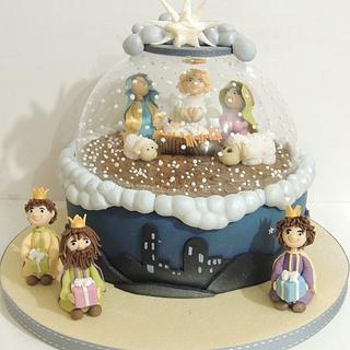 Nativity Snow Globe - Cake by Shereen
