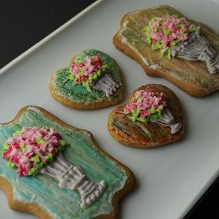 Antique Flower Pots Cookies