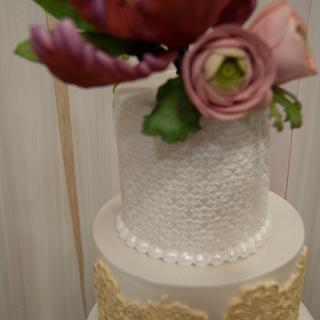 Wedding Cake - Cake by canelaencasamadrid