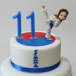 taekwondo cake