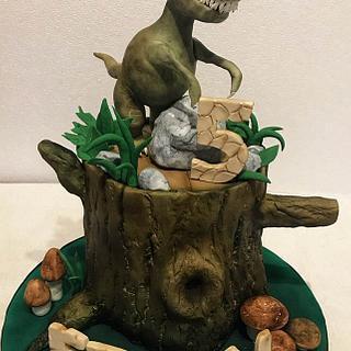T-Rex cake - Cake by Romina Haiek