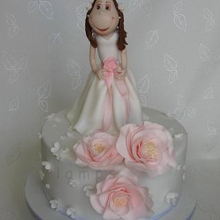 first Holy Communion - Cake by lamps