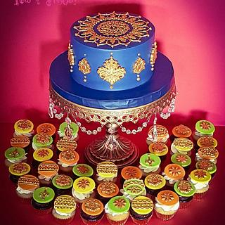 Gold Henna Cake! - Cake by Iced n Frosted!