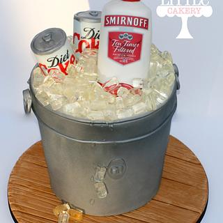 Ice Bucket with smirnoff vodka