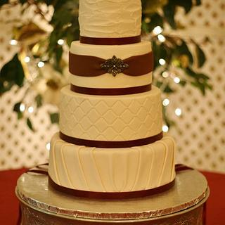 Burgundy and Ivory wedding