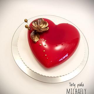 Mirror glaze heart