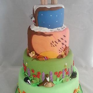 Seasons of the year wedding cake