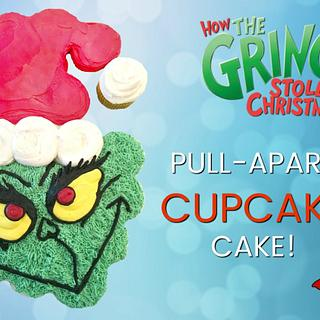GRINCH PULL-APART CUPCAKE CAKE!