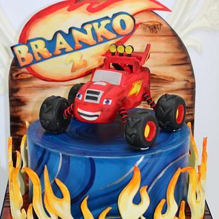 Blaze cake for kids
