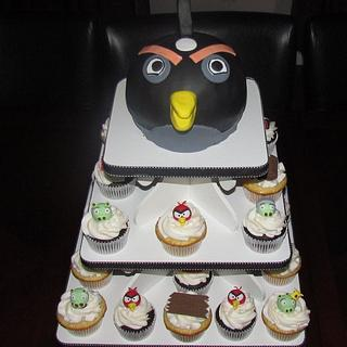 Angry Birds Cupcake Tower
