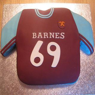 West ham football shirt birthday cake