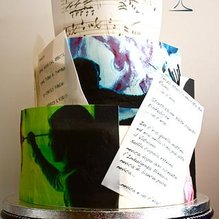 A painter, a poet, music, love. - Cake by Torte Titiioo