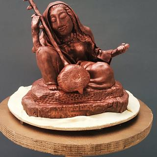 MeeraBai  sculpted cake