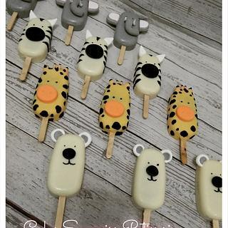 Jungle animals icepop
