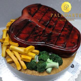Juicy Steak Cake