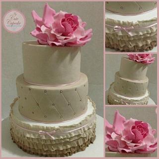 3 Tier Ombre Wedding Cake