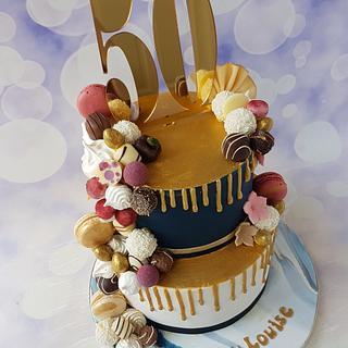 Sweet overload drip cake