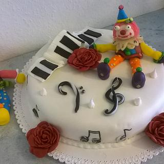 Carnival birthday cake  for a piano player - Cake by Romina