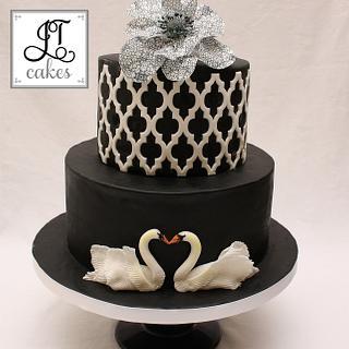 Swans cake.
