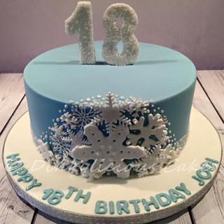 Winter birthday cake - Cake by Dinkylicious Cakes