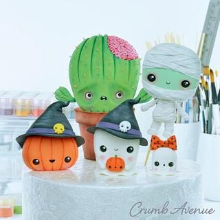 Halloween Cake Toppers :) - Cake by Crumb Avenue