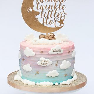 Twinkle Twinkle Little Star Reveal Cake