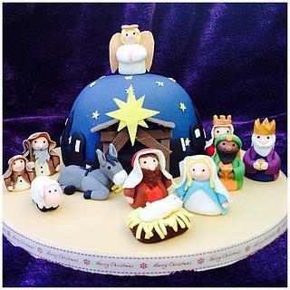 Nativity Christmas Cake - Cake by Jackie's Cakery