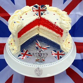 Red White & Blue Jubilee Layer Cake