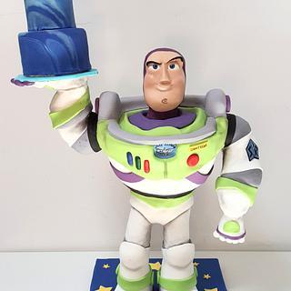 Standing Buzz Lightyear cake