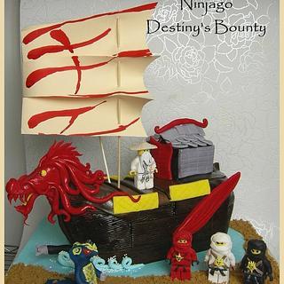 Lego Ninjago 'Destiny's Bounty' Cake