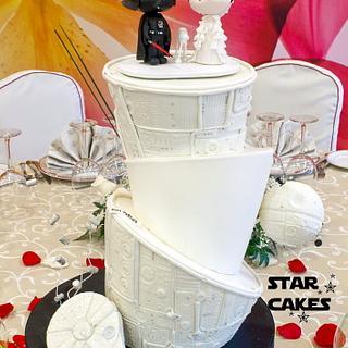 Star Wars wedding cake Vader and Amidala