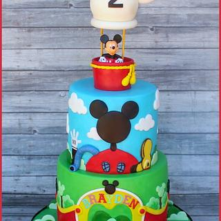Mickey's Clubhouse Cake