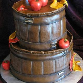 apple basket cake - Cake by Stephanie Shaw