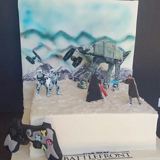 Star Wars Battlefront cake