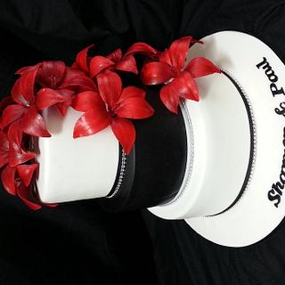 red lillies - Cake by jodie baker