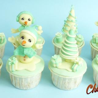 "CUPCAKES ""MERRY CHRISTMAS"" - Cake by ChocoCake"