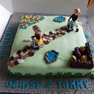 A gardening cake for a Leeds Customer - Cake by Simply Cakes By Caroline