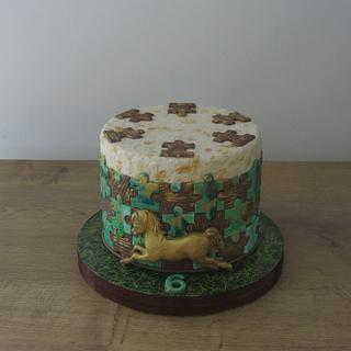 The Golden Pony Cake
