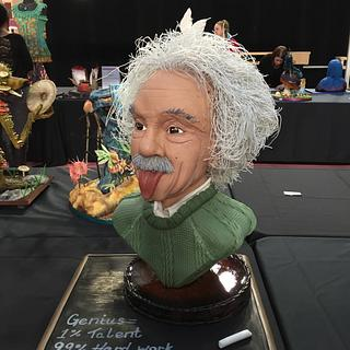 Einstein Bust - Genius in cake!
