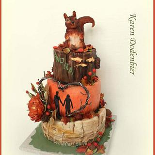 Forest Fall cake