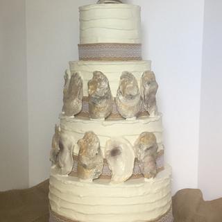 Oyster Louisiana style Wedding Cake