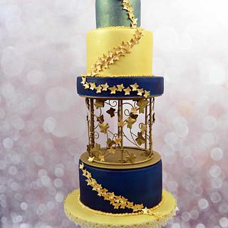 Gold Vines Cake