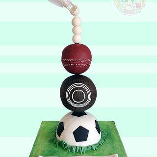Sports pileup - Cake by Chatter Cakes