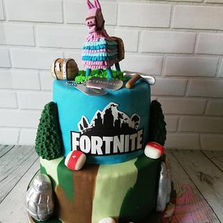 Fortnite cake - Cake by Bakmuts en zo