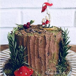 Tree stump cake. - Cake by Loan Phan