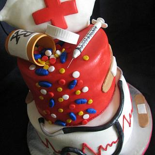 Nurse Cake - Cake by Stephanie Shaw