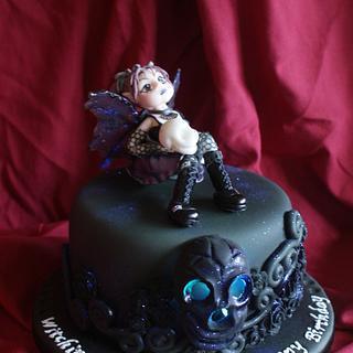 Goth Faerie Birthday cake - Cake by TipsyTruffles