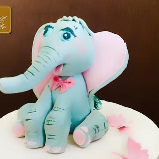 Little cute elephant