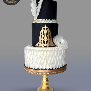 Art Deco / Gatsby Cake - Cake by Akademia Tortu - Magda Kubiś