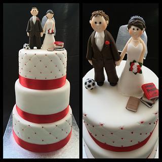 Red&white wedding cake